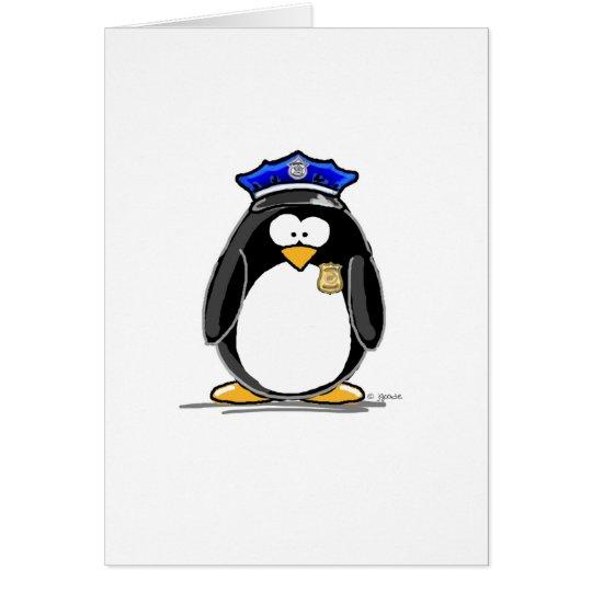 Polizeibeamte-Pinguin Karte