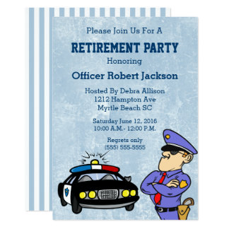 Polizeibeamte-Ruhestands-Einladung Karte