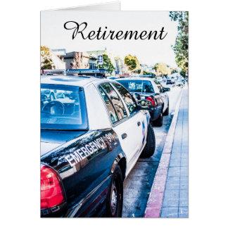 Polizeibeamte-Ruhestandskarte Karte