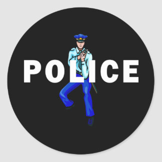 Polizeiliches Handeln Runder Aufkleber