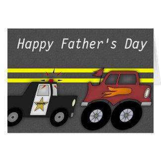 Polizeiwagen, der große der Vatertags-Karte Karte