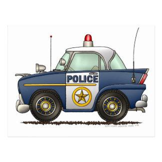 Polizeiwagen-Gesetzesvollstreckung Postkarte
