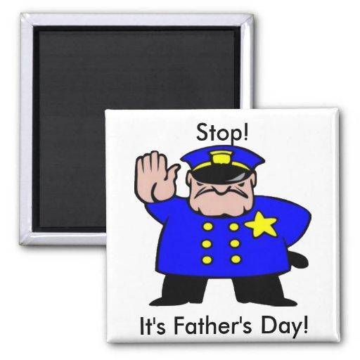 Polizist - der Vatertag Magnets