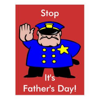 Polizist - der Vatertag Postkarte