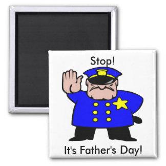 Polizist - der Vatertag Quadratischer Magnet