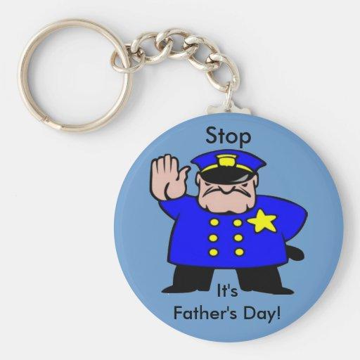 Polizist - der Vatertag Schlüsselanhänger