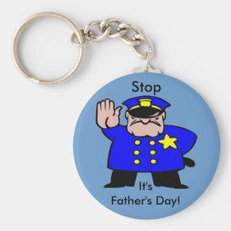 Polizist - der Vatertag Standard Runder Schlüsselanhänger