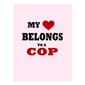 Polizist-Liebe Postkarte