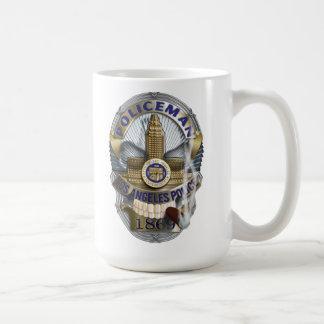 Polizist-Schädel-Abzeichen Kaffeetasse
