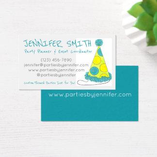 Polka-Punkt-Geburtstags-Party-Hut-Ereignis-Planer Visitenkarten