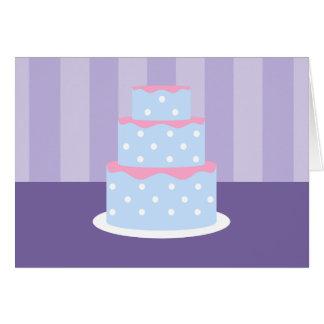 Polka-Punkt-Kuchen-Mitteilungskarten Karte