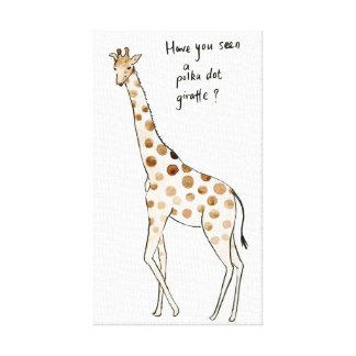 Polkapunkt-Giraffen-Comic Druck Leinwanddruck