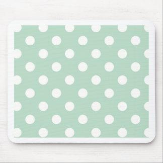 Polkapunkt-Minzenpulver girly Spaß weißen Mauspads