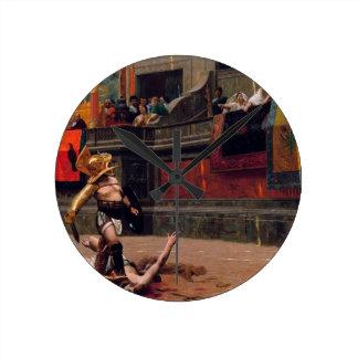 Pollice Rückseite-Malerei Runde Wanduhr