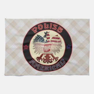 Polnische Amerikaner-Eagle-Tee-Tücher Handtuch