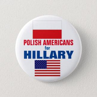 Polnische Amerikaner für Hillary 2016 Runder Button 5,1 Cm