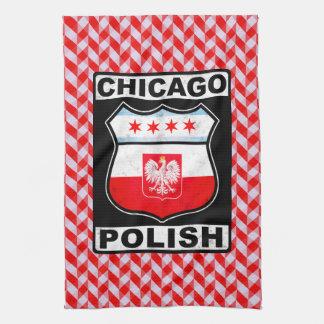Polnische amerikanische Tee-Tücher Chicagos Handtuch