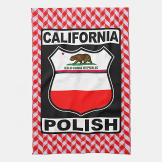 Polnische amerikanische Tee-Tücher Kaliforniens Handtuch