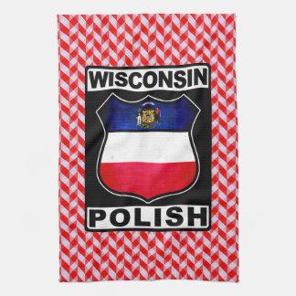 Polnische amerikanische Tee-Tücher Wisconsins Geschirrtuch
