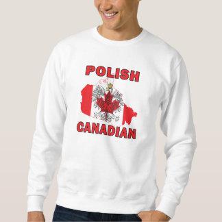 Polnische kanadische Flaggen-Kanada-Karte Sweatshirt