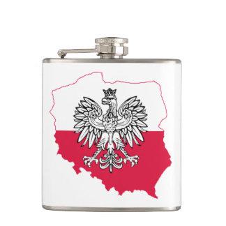 Polnische Karten-Flaggen-Flasche Flachmann