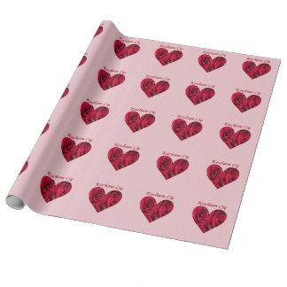 Polnische Liebe Sie rotes Geschenkpapier