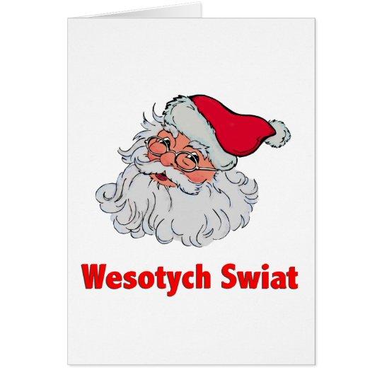 Polnischer Weihnachtsmann #2 Karte