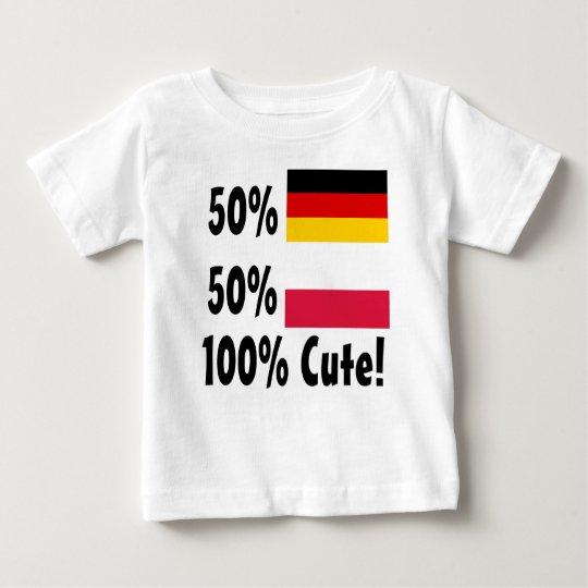Polnisches 100% 50% Deutsch-50% niedlich Baby T-shirt