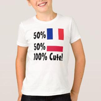 Polnisches 100% 50% Franzose-50% niedlich T-Shirt