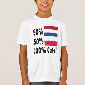 Polnisches 100% 50% Holländer-50% niedlich T-Shirt