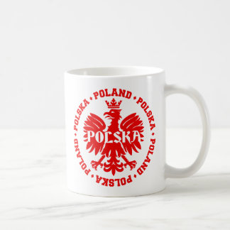 Polnisches Eagle mit Text Polens Polska Kaffeetasse