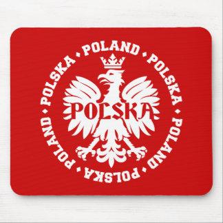 Polnisches Eagle mit Text Polens Polska Mauspad