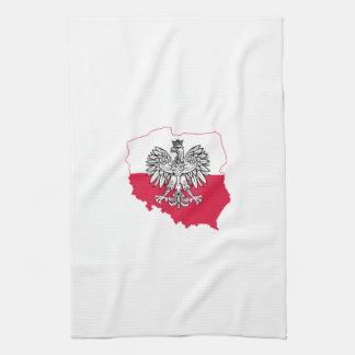 Polnisches Karten-Flaggen-Geschirrtuch Handtuch