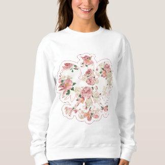 Polnisches Mit BlumenEagle Sweatshirt