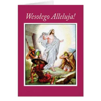 Polnisches Ostern, Jesus-Auferstehung, religiös Karte
