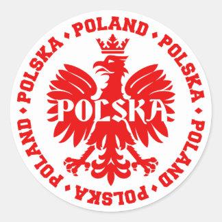 Polnisches Polska Eagle Emblem Runder Aufkleber