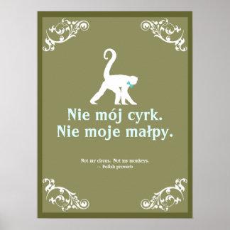 Polnisches Sprichwort Poster