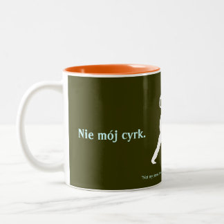 Polnisches Sprichwort Zweifarbige Tasse