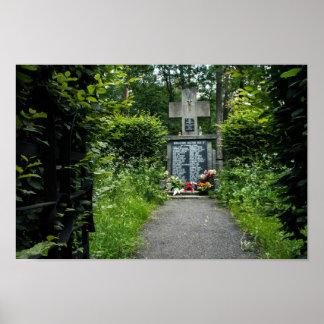 Polnisches WW2 Denkmal - Niepolomice Poster