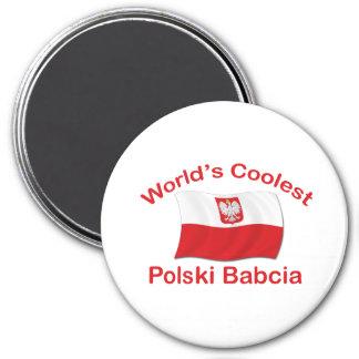 Polski le plus frais Babcia Magnet Rond 7,50 Cm