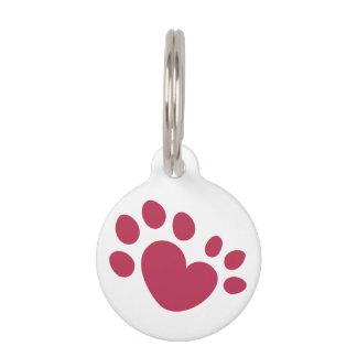 Polydactyl Katzen-Tatzen-Druck-Herz Haustiermarke