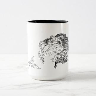 Polygon-Kunst-Tasse BTS V durch Genine Labis Zweifarbige Tasse