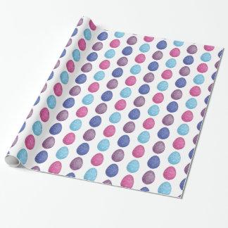 Polygonales Eimuster in den blauen Farben Geschenkpapier