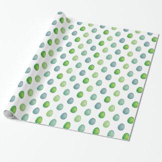 Polygonales Eimuster in den grünen Farben Geschenkpapier