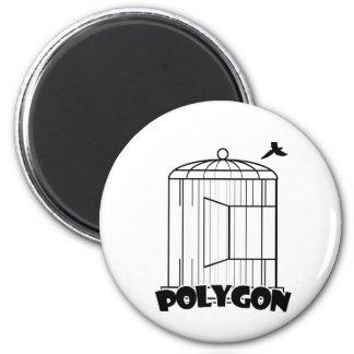 Polygone Magnet Rond 8 Cm