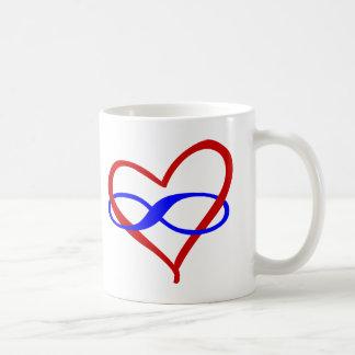 Polyherz-Unendlichkeit Kaffeetasse