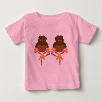 Pom-pom girl mignon de jumeaux t-shirt pour bébé
