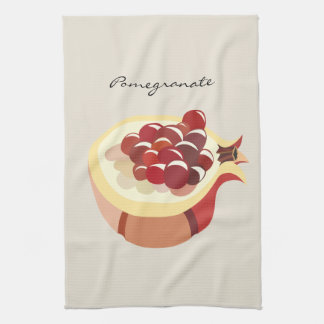 Pomegranate fruit illustration handtuch