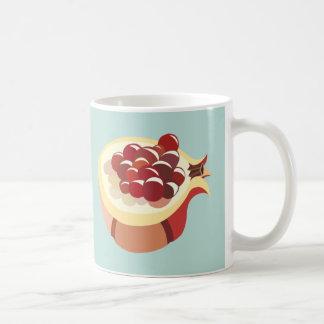 Pomegranate fruit illustration tasse