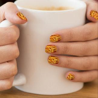 Pommes-Fritesnägel Minx Nagelkunst